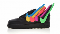 Tênis Nike Air Force 1 QS Swoosh Preto
